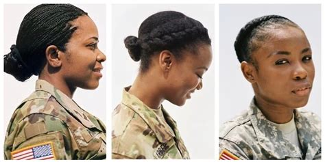 military hairstyles cornrows natural hairstyles for gals in the military alikay blog