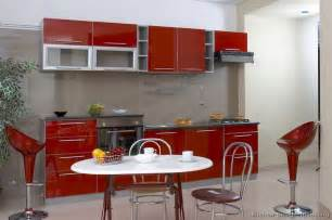 Red And Grey Kitchen Ideas by Pictures Of Kitchens Modern Red Kitchen Cabinets Page 2
