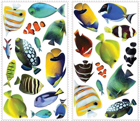 wall stickers fish tropical fish wall decals wall decals gt complete collection of wall decals gt tropical fish 2
