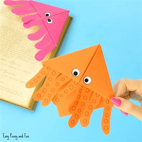 Origami For 8 Year Olds - octopus corner bookmarks easy peasy and