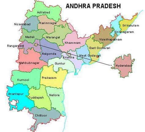Sate of Andhra Pradesh Map Places Population etc,   TNPSC
