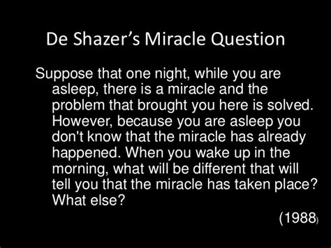 The Miracle Questions Lecture 7 Solution Focused Therapy