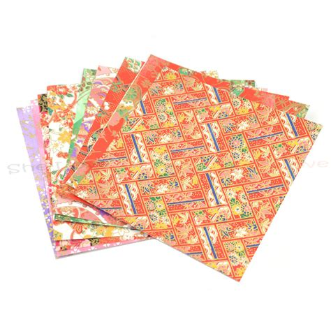 Japanese Washi Paper Crafts - 10 sheets japanese origami washi paper meatllic diy