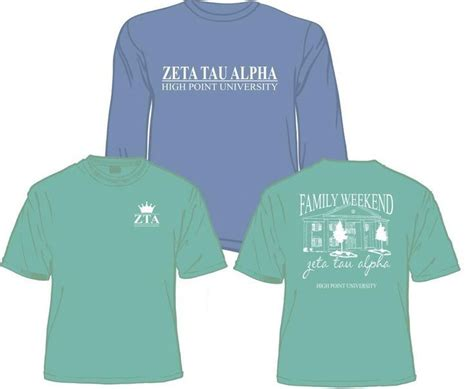 zeta tau alpha colors zeta tau alpha family weekend t shirt and sweatshirt