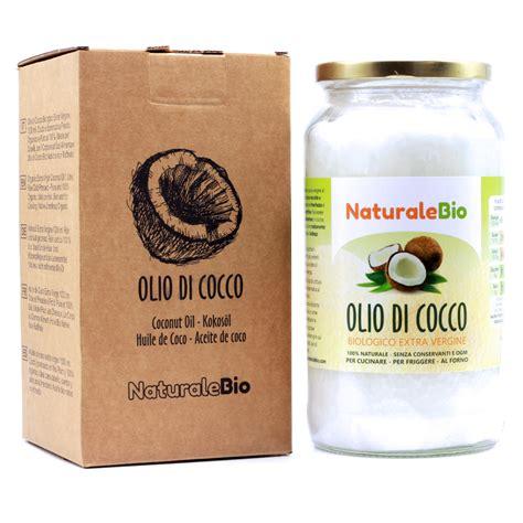 olio di cocco alimentare biologico olio di cocco biologico vergine 1000 ml crudo e