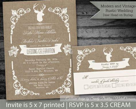 deer wedding invitations rustic wedding invitations rustic deer and antlers on
