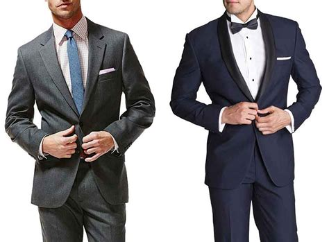 tuxedo colors what is difference between suit and tuxedo suit vs