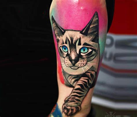 tattoo cat color color cat tattoo by timur lysenko no 1519