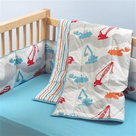 Land Of Nod Crib Sheets by Construction Print Crib Bedding Modern Baby Bedding