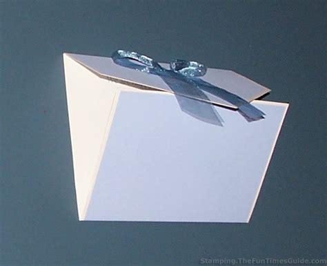 how to make a tri fold card handmade card idea how to make a unique tri fold card