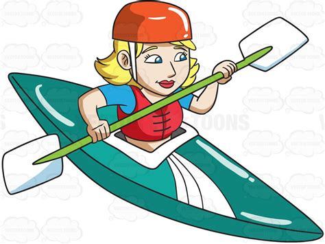 kayak clipart a in competitive kayak race clipart by vector