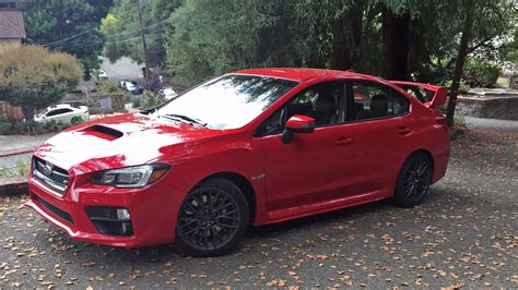 subaru sti 2016 red subaru wrx sti 2016 review by car magazine