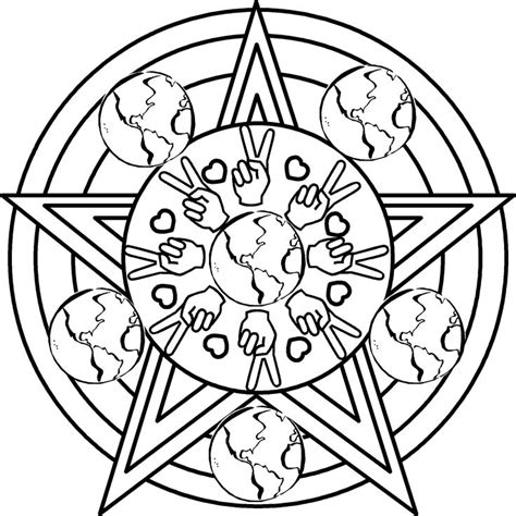 Peace Coloring Pages Back To School And Other Briliant Peace Mandala Coloring Pages