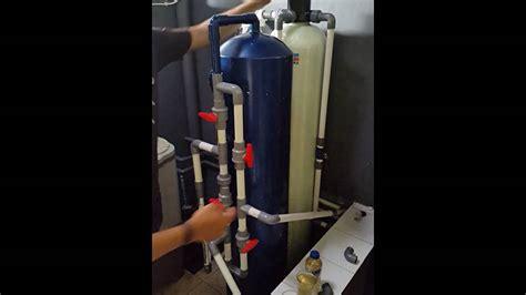 cara membuat filter air backwash cara backwash filter air youtube