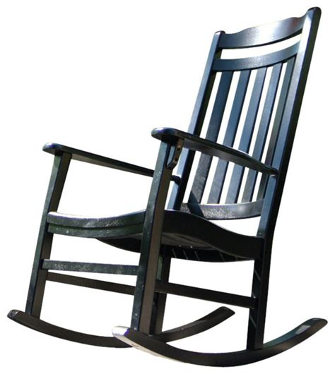 Black Outdoor Rocking Chair by World S Finest Rocker Black Traditional Outdoor