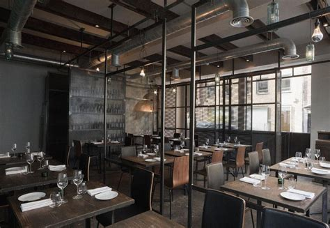 cool metal dividers divider and wall restaurant interiors industrial interiors