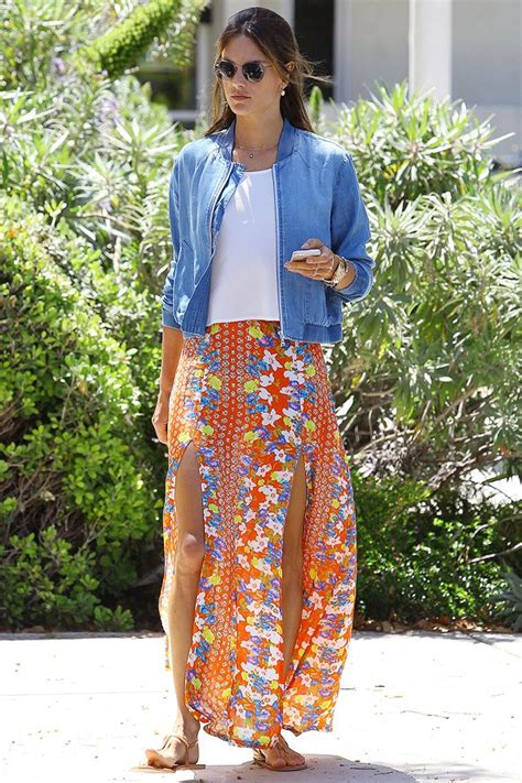 fashion trends celebrity style outfit ideas glamour alessandra ambrosio summer style www imgkid com the
