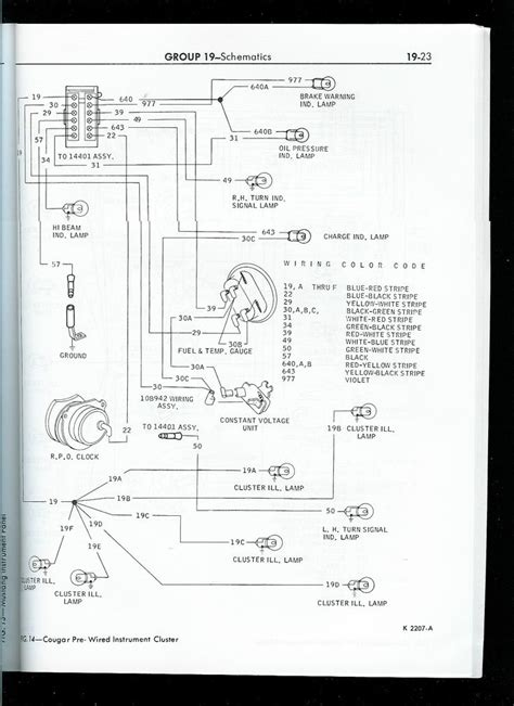 1967 mustang wiring to tachometer click image for larger