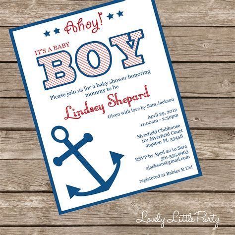 Nautical Baby Shower Invites by Printable Or Printed Nautical Baby Shower Invitation Lovely