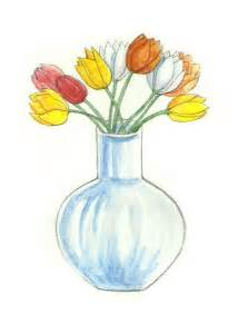 Draw A Vase Of Flowers How To Draw Flowers In A Vase Via Wikihow Com Drawing