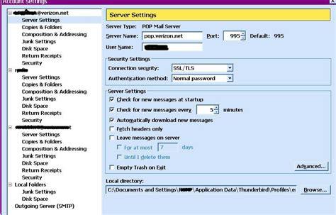windows live mail ssl account definitions for verizon net mozilla thunderbird ssl account definitions for verizon
