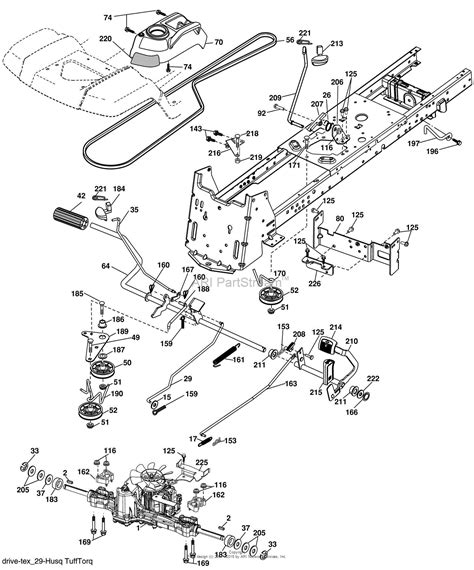 husqvarna belt diagram husqvarna yth 2454 t 96043002203 2006 03 parts diagram