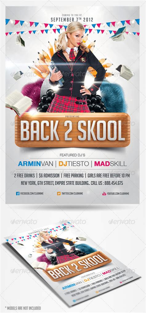 back to school flyer template back to school flyer template print ad templates