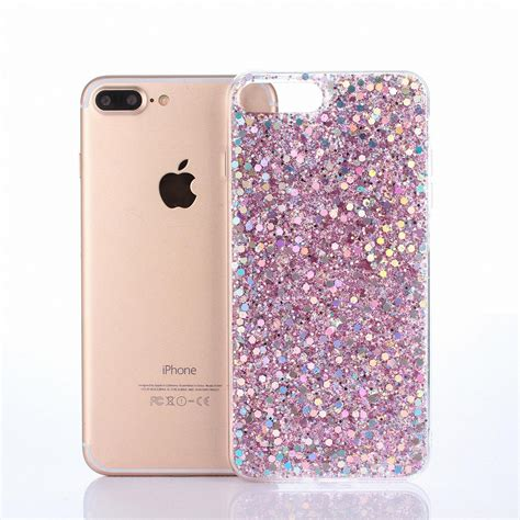 for iphone 8 plus x ultra thin bling soft silicone tpu glitter back cover ebay