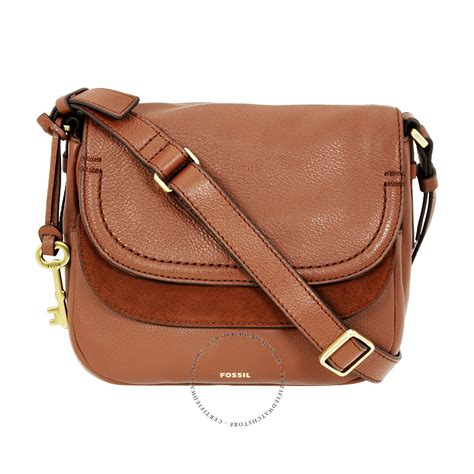 Fossil Peyton Flip Brown L fossil peyton brown crossbody handbags