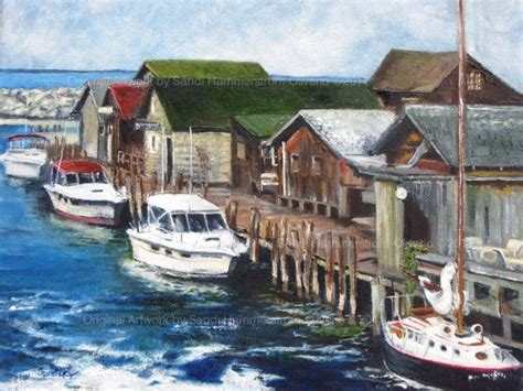 mersing fishing boat charter fish town i print leland michigan gallery wrapped