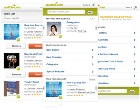 audible mobile store app audible mobile store shop audible on your mobile device