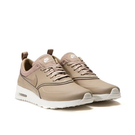 NIKE WMNS AIR MAX THEA PRM (DESERT CAMO) Leather Jackets For Women Light Brown