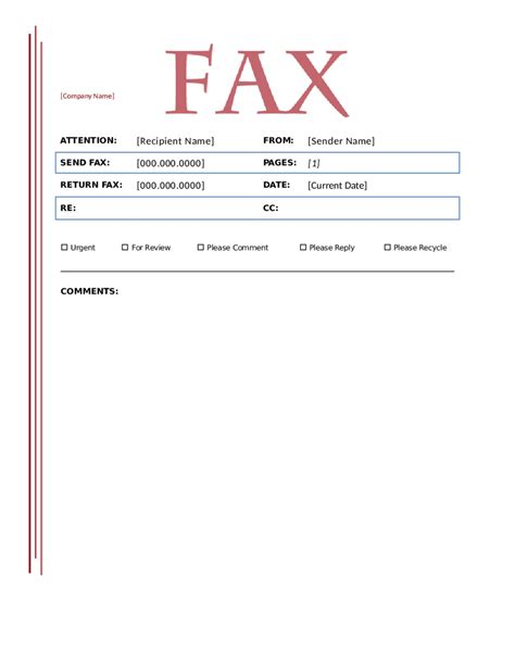 If Page Template by Blank Fax Cover Sheet Template Word Images