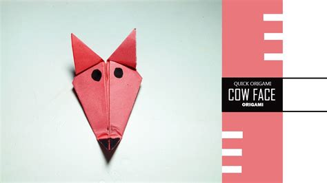 How To Make An Origami Cow - how to make origami cow face easily make a paper cow