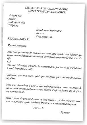 Exemple De Lettre Nuisance Sonore troubles du voisinage comment se d 233 fendre
