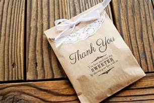 Bags For Wedding Favors by Favor Bags Wedding Favor Kraft Bags Thank You Message By
