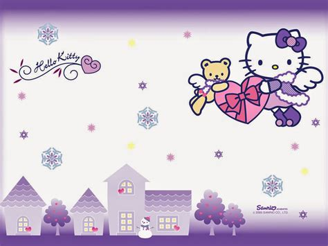 wallpaper cantik lucu gambar hello kitty wallpaper ungu gambar hello kitty