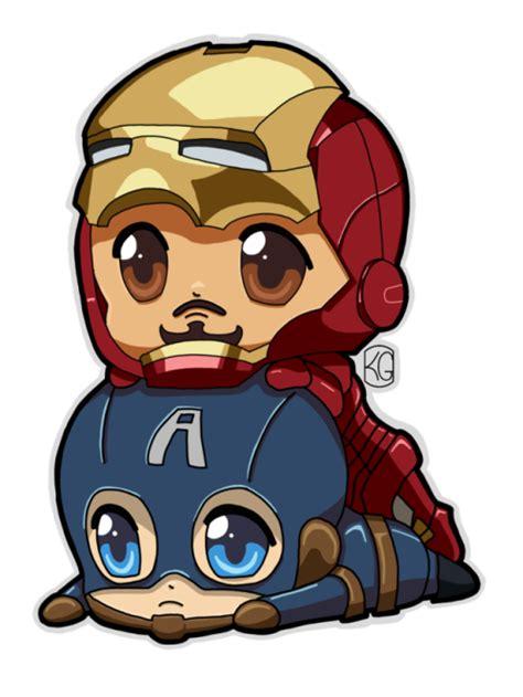 Figure Captain America Ironman Chibi chibi iron