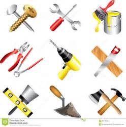 construction tools icons detailed set royalty free stock