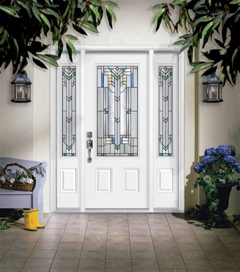 Masonite Front Door Masonite Steel Two Panel Door With Monaco Glass And Sidelites Masonite Is One Of The World S