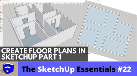 create floor plan in sketchup creating 3d floor plans in sketchup part 1 the sketchup