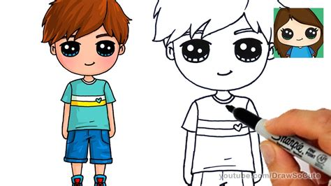 how todraw a 12 year old boy how to draw a cute boy easy youtube