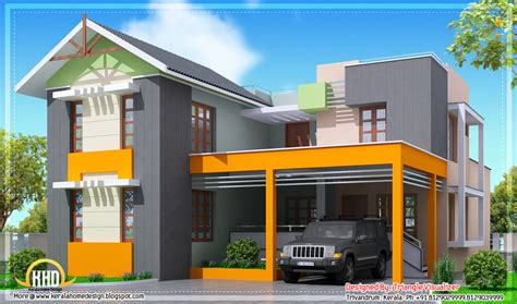 house design in 2000 square modern 4 bedroom kerala home design 2000 sq ft