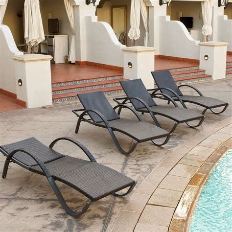 outdoor patio lounge chairs rst brands deco chaise lounge 4 patio furniture ebay