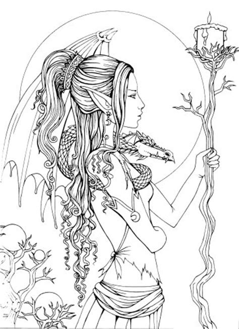 coloring pages for adults mythical mystical a fantasy coloring book colouring