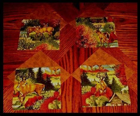 Deer Country Quilts by 32 6 Quot Deer Country Brown Quilt Fabric Squares Kit Ebay