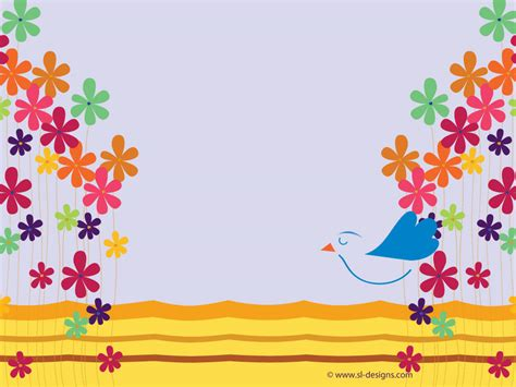 background design for email flowers and bird background desktop wallpaper
