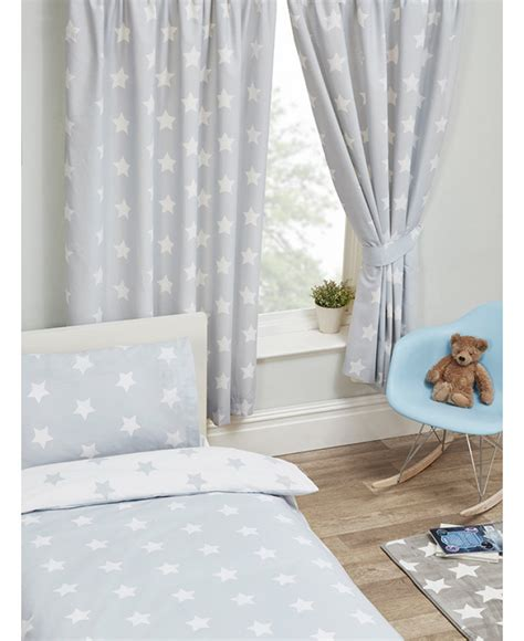 lined grey curtains grey and white stars lined curtains bedroom