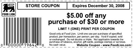 printable food lion coupons supercenter or grocery store southern savers coupons