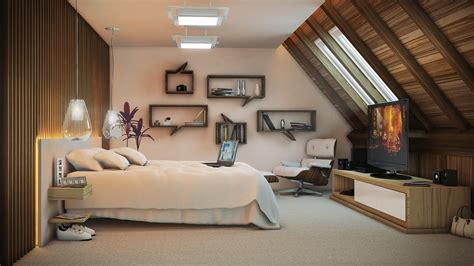 Brilliant Artistic Bedroom Ideas With Laptop On Double Bed Side Beautiful Tree Closed Unique
